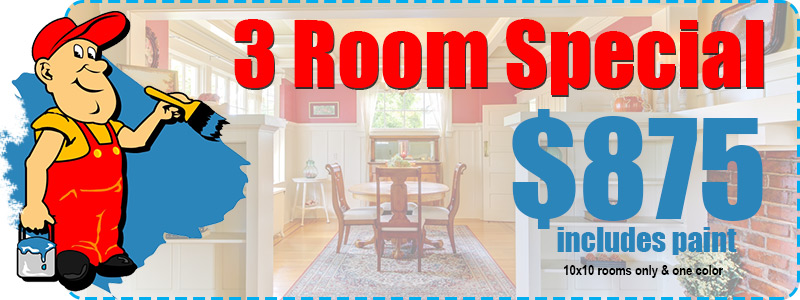 3 Room Interior Painting Special