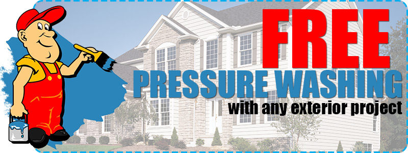 Free Pressure Washing with any Exterior Project